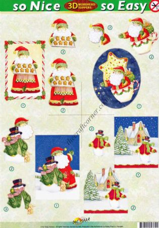 Father Christmas & Snowman Scenes So Nice, So Easy Morehead 3D Die Cut Decoupage Sheet